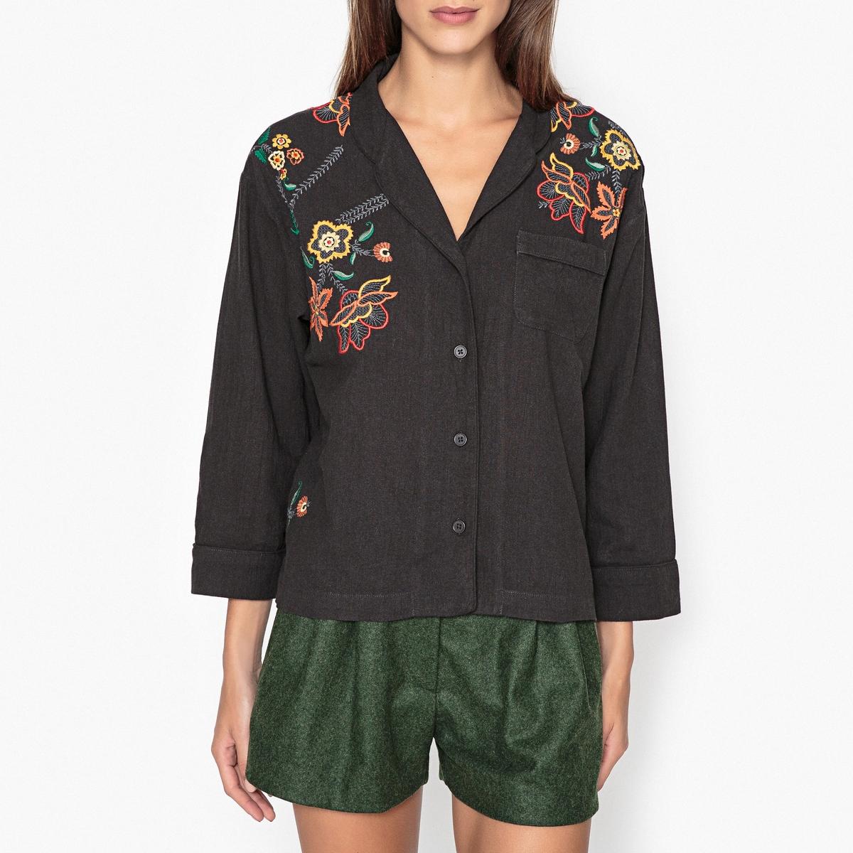 Рубашка короткая из шелка BOUM
