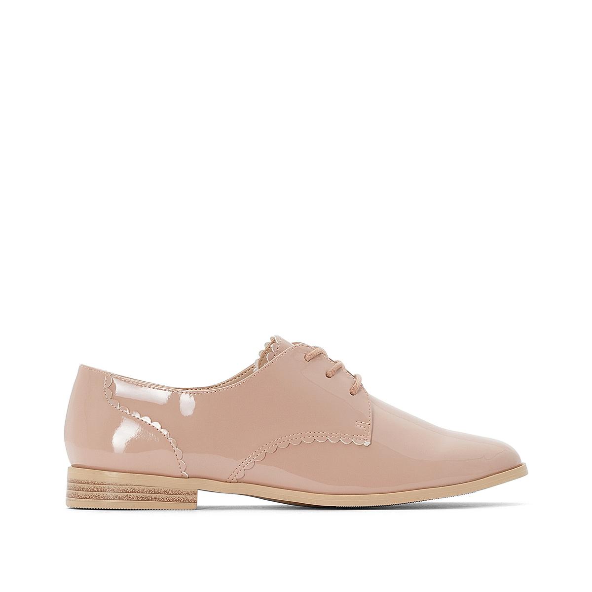 цена Ботинки-дерби La Redoute Лакированные 36 розовый онлайн в 2017 году