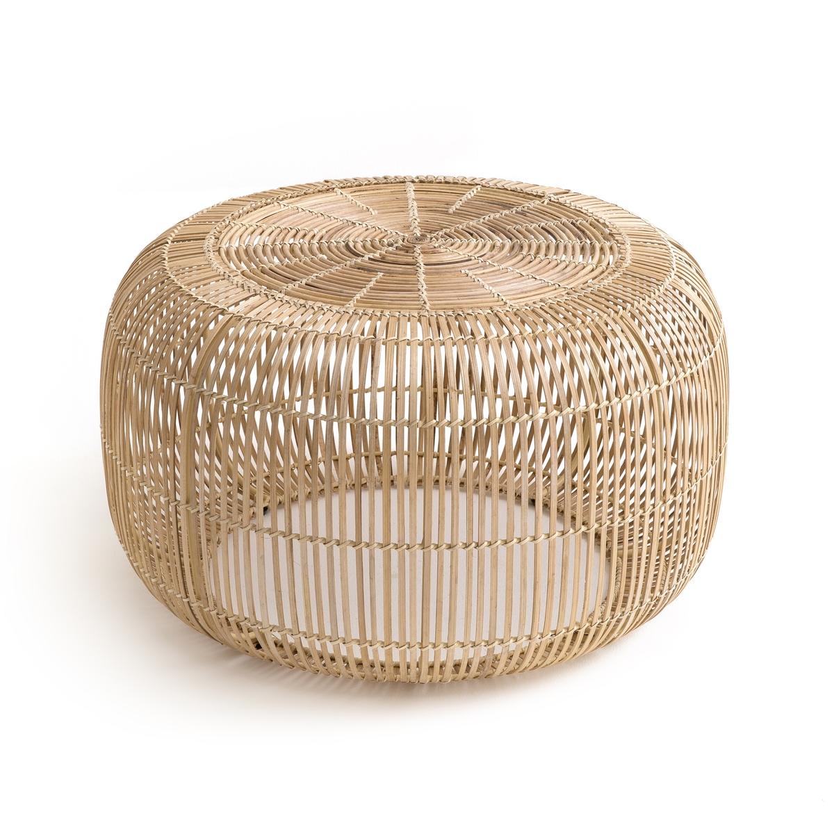 Столик LaRedoute Журнальный круглый из бамбука BANGOR единый размер бежевый