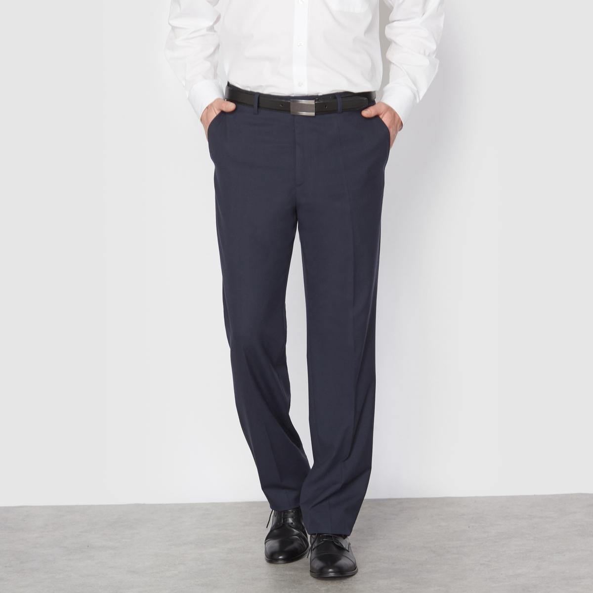 Брюки от костюма без защипов из ткани стретч, длина.1Можно носить как в сочетании с пиджаком, так и отдельно. Полнота пояса регулируется и подстраивается под любую морфологию. Застежка на молнию, пуговицу и крючок. 2 косых кармана. 1 прорезной карман с пуговицей сзади. Необработанный низ.Длина 1 : при росте до 187 см.- Длина по внутр.шву : 84,8-87,8 см, в зависимости от размера. - Ширина по низу : 21,4-27,4 см, в зависимости от размера. Есть также модель длины 2: при росте от 187 см. Есть также модель с защипами.<br><br>Цвет: антрацит,темно-синий,черный<br>Размер: 44 (FR) - 50 (RUS).58.50 (FR) - 56 (RUS).56.54.44 (FR) - 50 (RUS).66.48 (FR) - 54 (RUS).68.52 (FR) - 58 (RUS).50 (FR) - 56 (RUS)