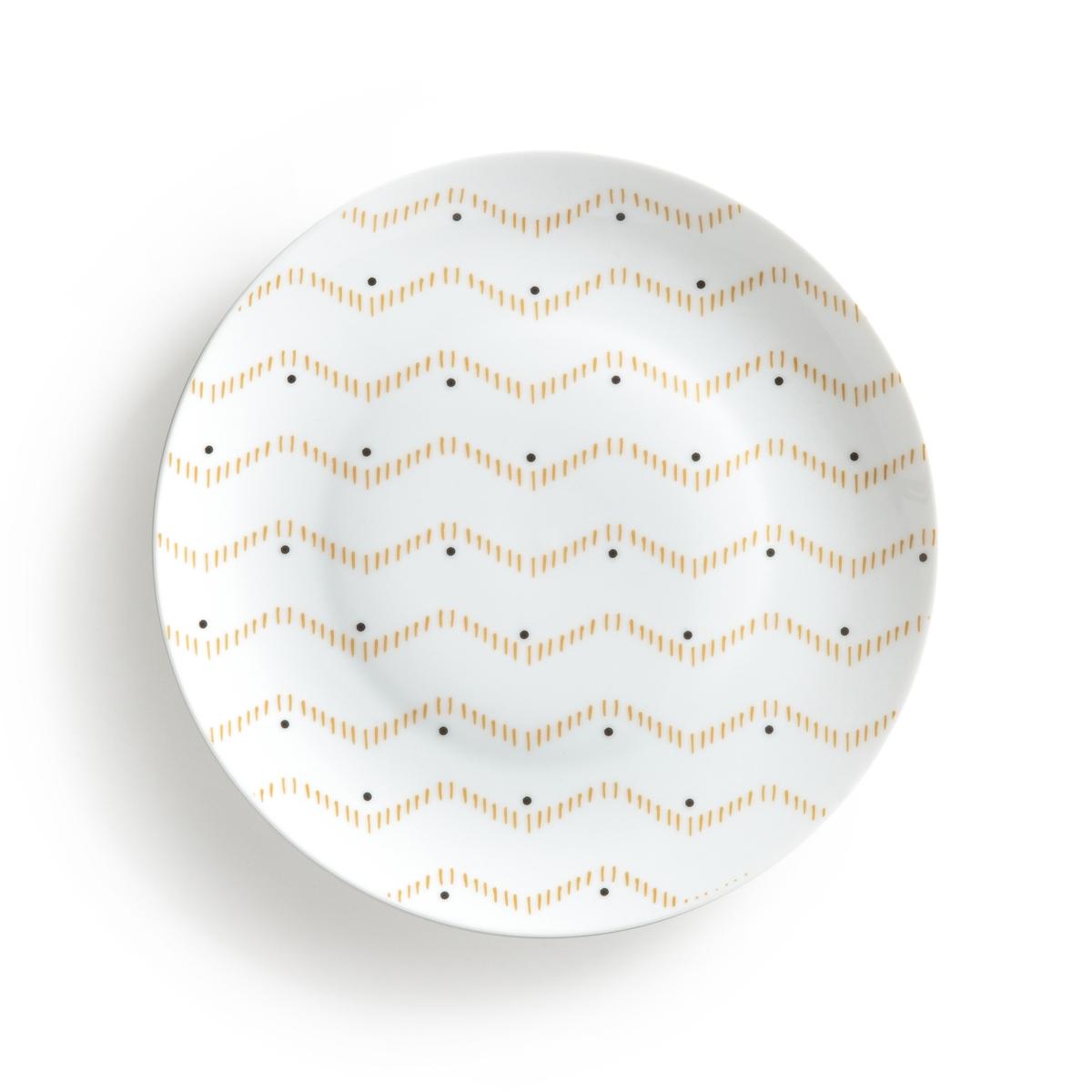 Комплект из плоских тарелок La Redoute AFROA единый размер другие комплект из 4 стаканов afroa la redoute la redoute единый размер другие
