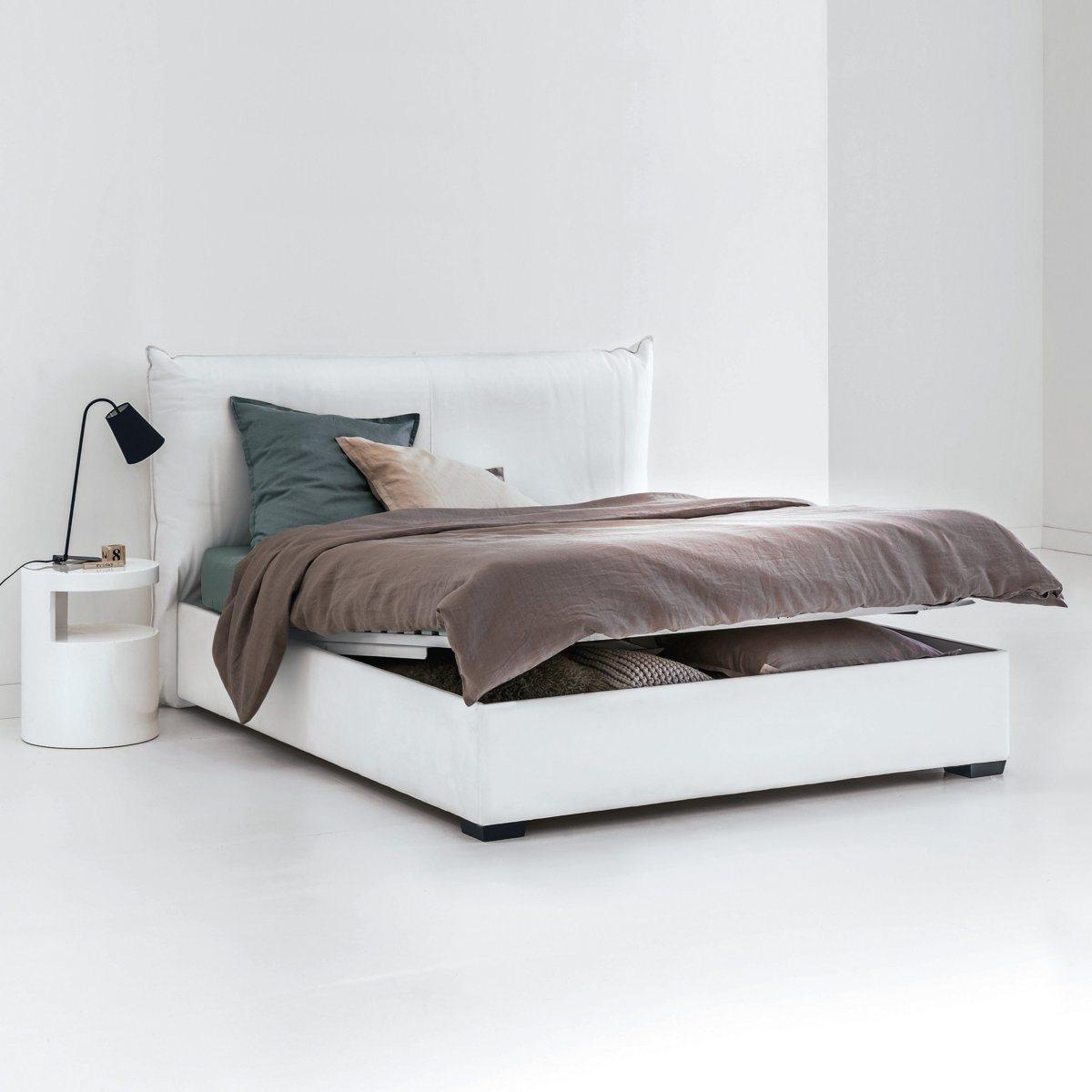 """Bett \""""Pancho\"""" inklusive Lattenrost, Bettkasten und Kopfteil"""