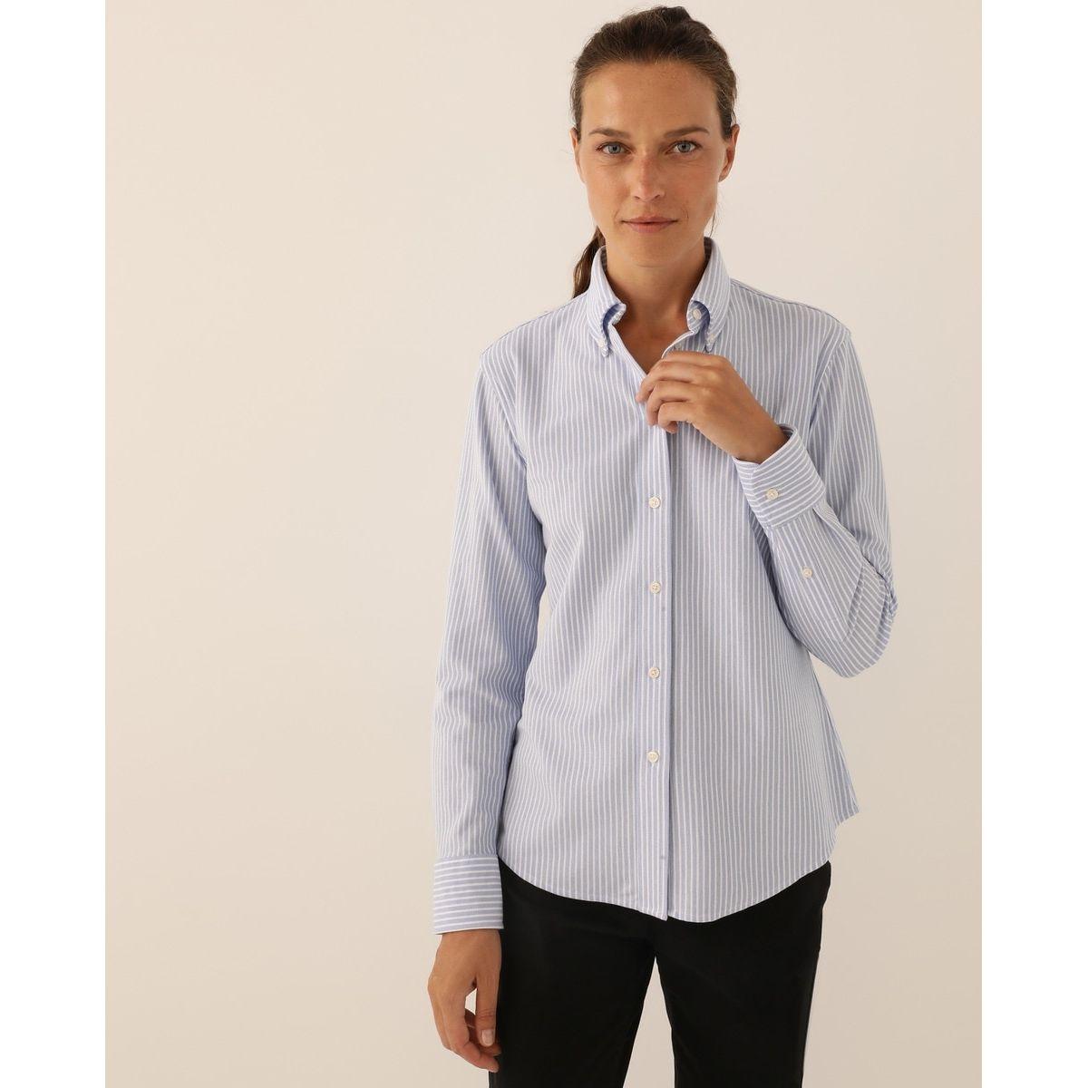 Chemise  classic en piqué à rayures