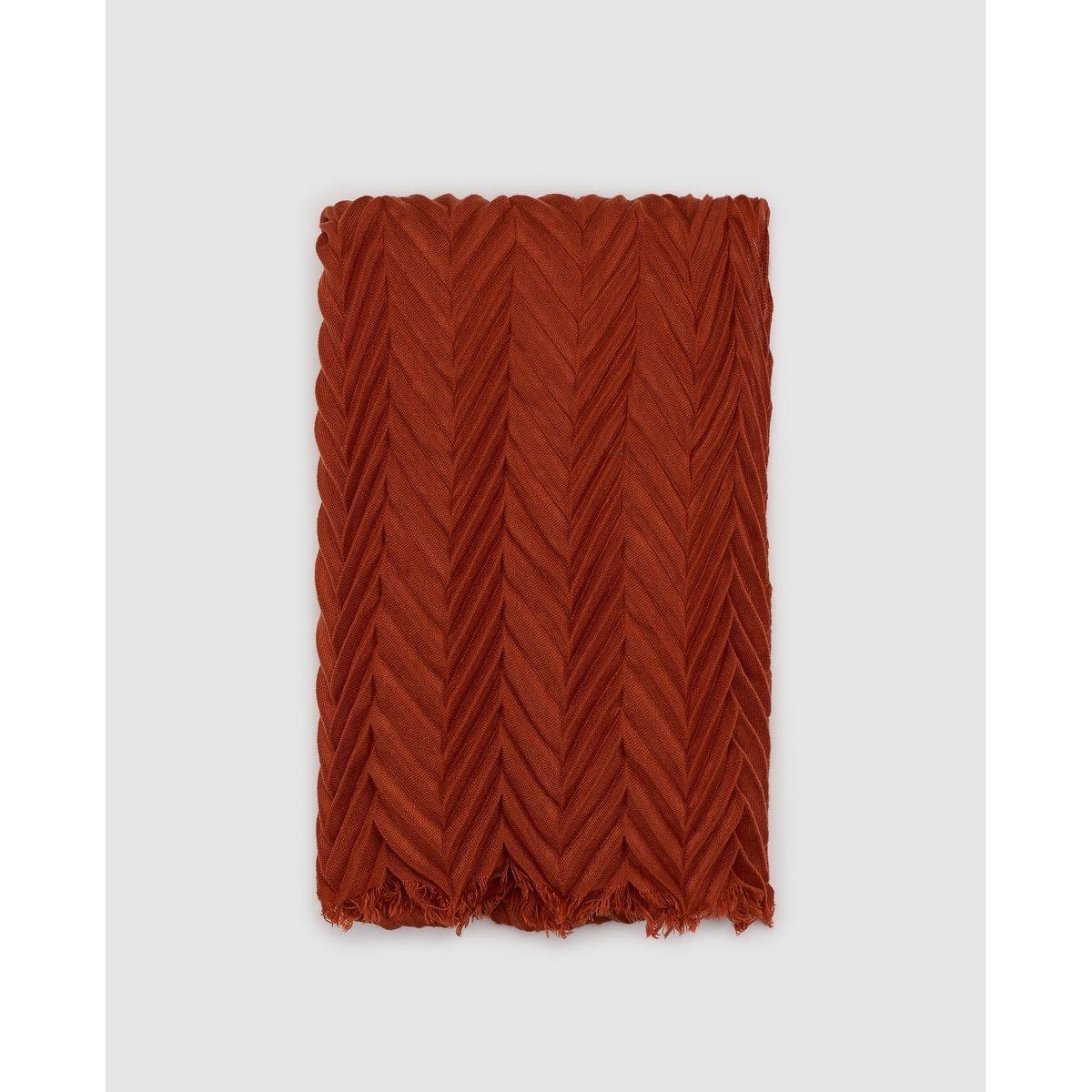 Foulard plissé en zigzag