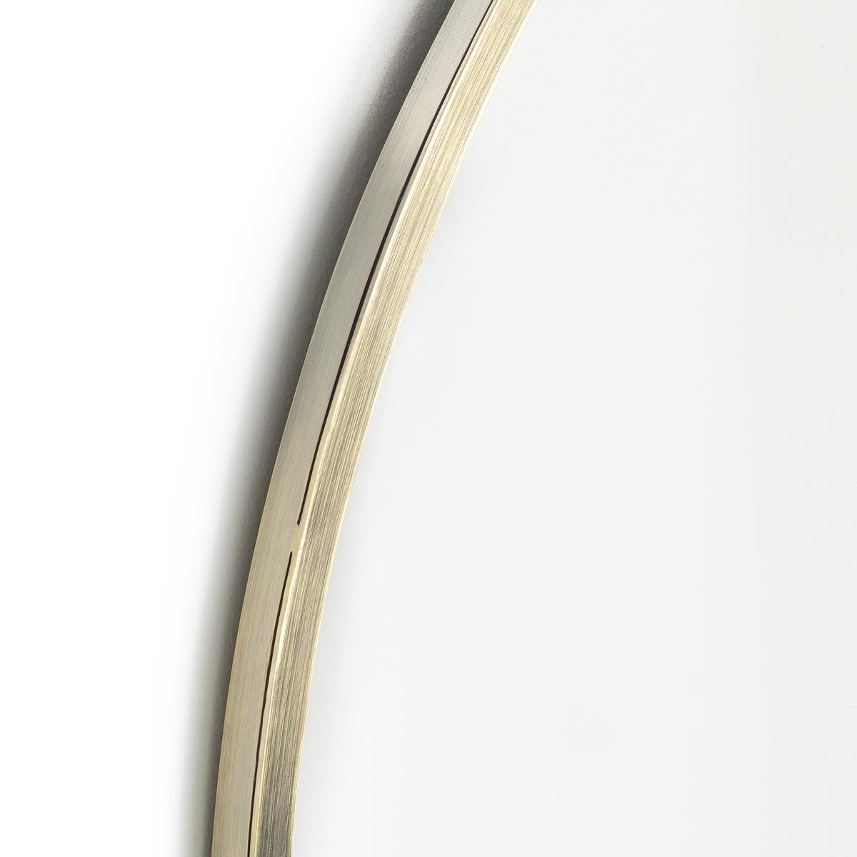 Зеркало, золотистый металл, ?80 см, CaligoneЗеркало Caligone. Зеркало большого диаметра с отделкой из состаренной латуни. Металлический каркас с отделкой из состаренной латуни. 2 крючка для крепления на стену (болты и дюбели в комплект не входят). Размеры : ?80 см.<br><br>Цвет: золотистый