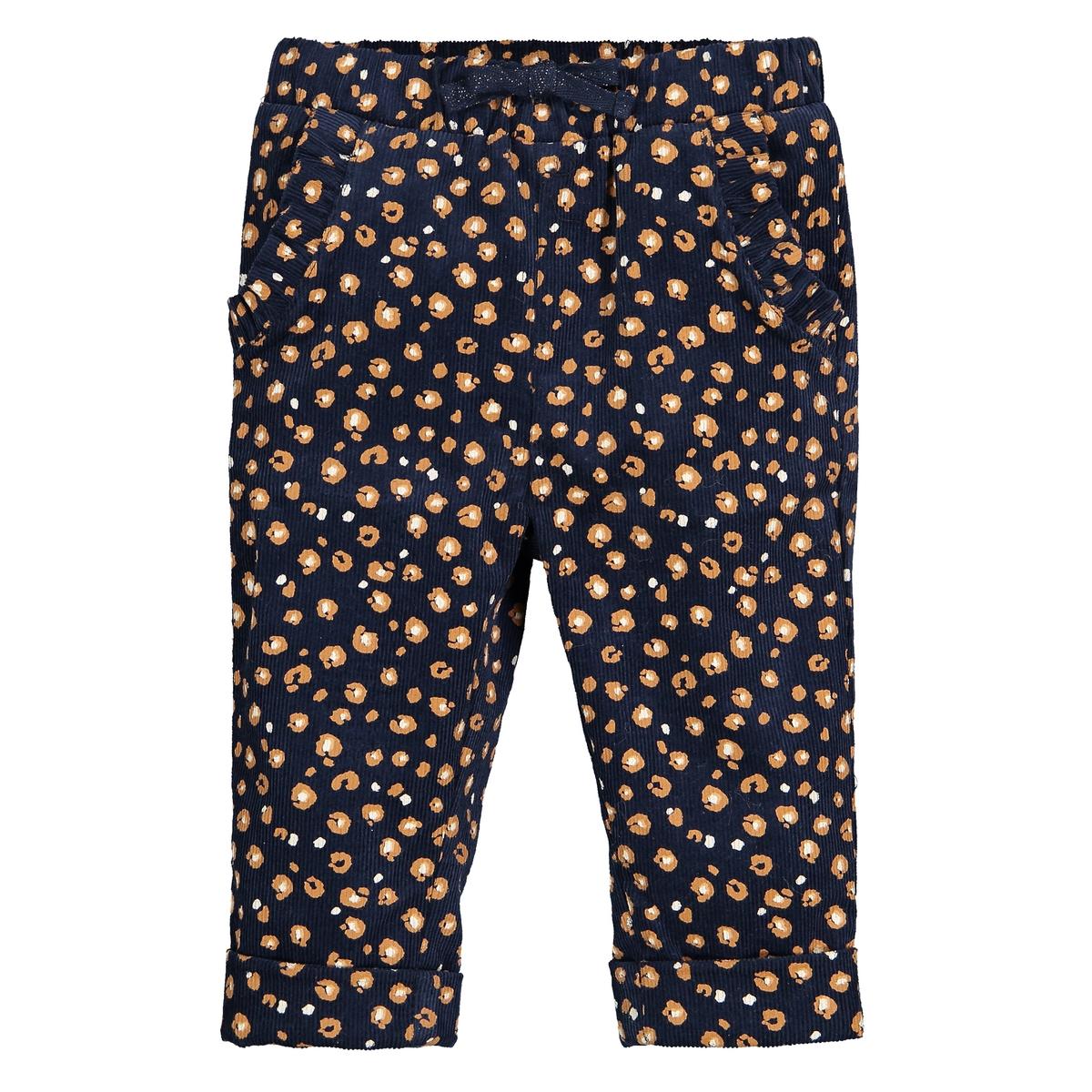 Леггинсы-брюки La Redoute Из велюра с принтом мес - лет 1 мес. - 54 см синий пижамы la redoute из велюра мес года 0 мес 50 см синий