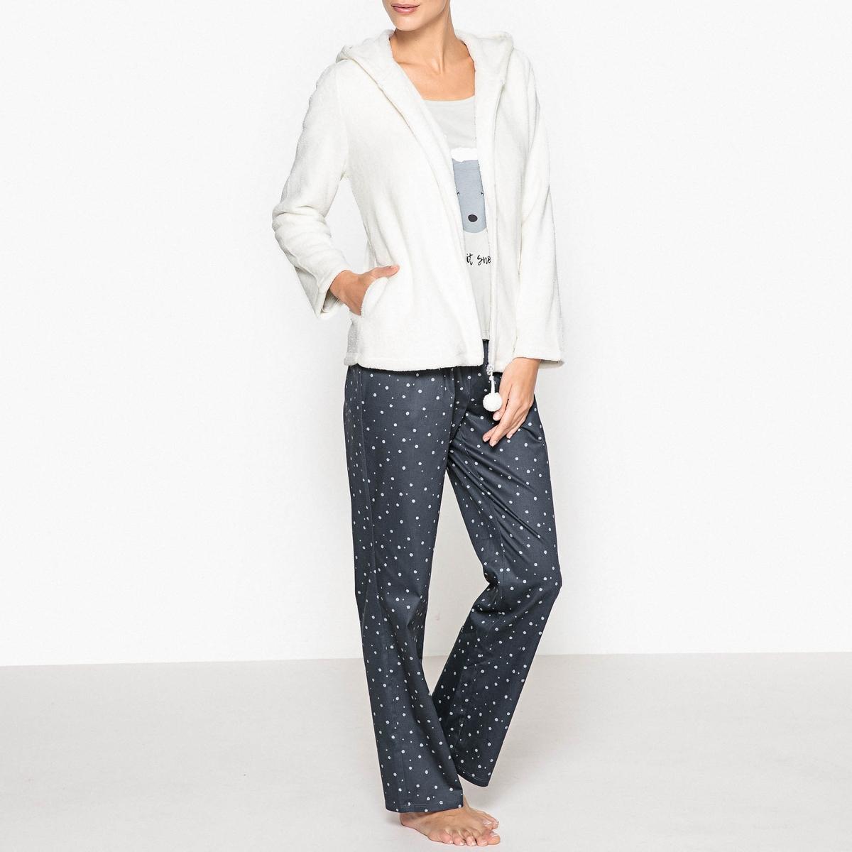 Пижама из 3 предметов ur женщин шнурок с капюшоном с длинными рукавами свитер футболка печать yv10s4jn2001 глубокий черный l