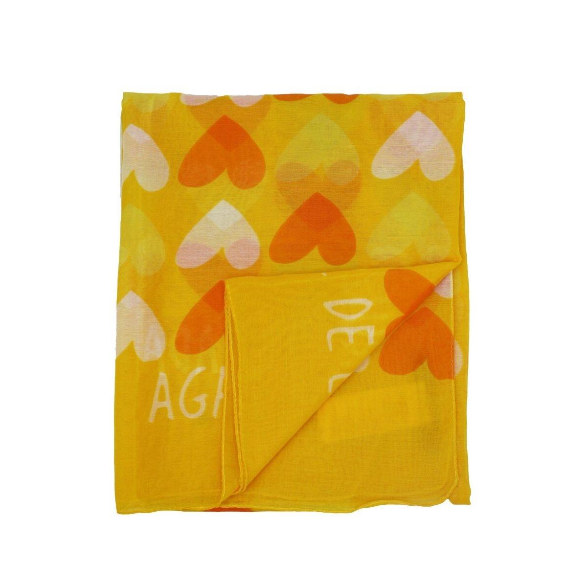 Foulard à coeurs orange