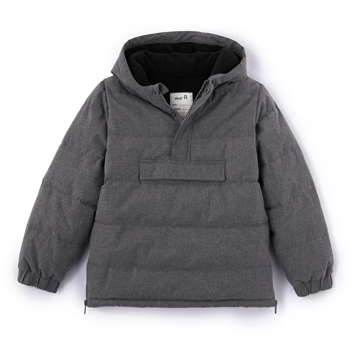 Куртка без застежки, 3-12 летДетали •  Зимняя модель •  Непромокаемая •  Застежка на молнию •  С капюшоном  •  Длина  : средняяСостав и уход •  100% полиэстер •  Температура стирки 30°   •  Сухая чистка и отбеливание запрещены •  Барабанная сушка на умеренном режиме •  Не гладить<br><br>Цвет: серый<br>Размер: 3 года - 94 см