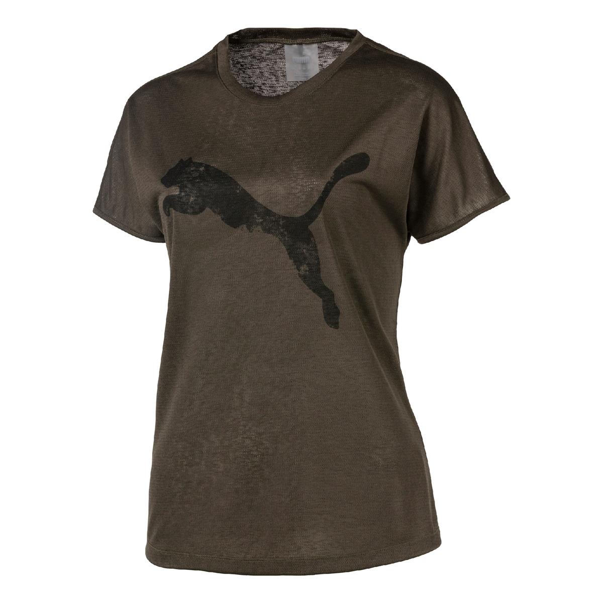 Imagen principal de producto de Camiseta con cuello redondo de manga corta y estampado delante - Puma