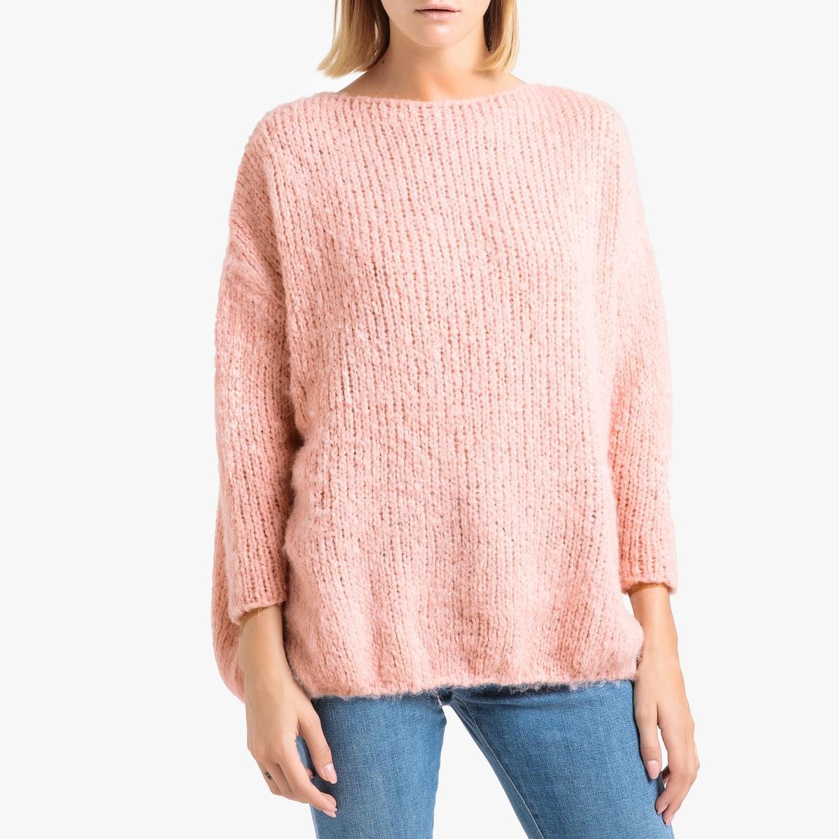 Пуловер La Redoute С вырезом-лодочкой из трикотажа BOOLDER M/L розовый пуловер la redoute с вырезом лодочкой из тонкого трикотажа m красный