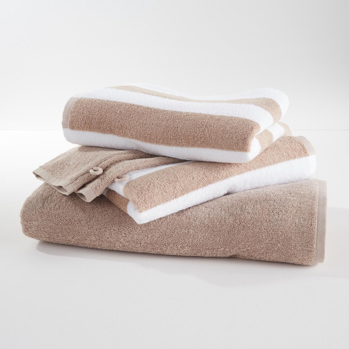 Комплект из предметов из La Redoute Махровой ткани гм единый размер бежевый наволочка la redoute flooch 50 x 30 см бежевый