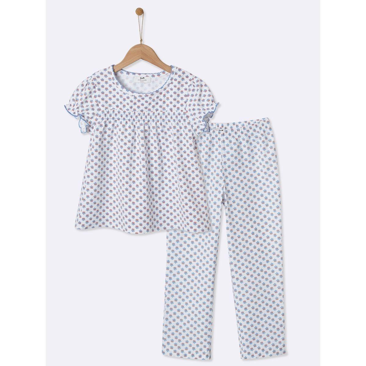 Pyjama à smocks fille