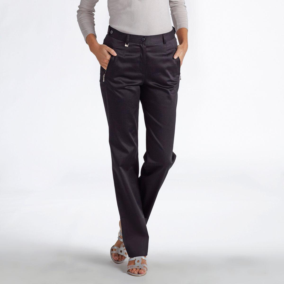Pantalon spécial voyage, satin de coton stretch