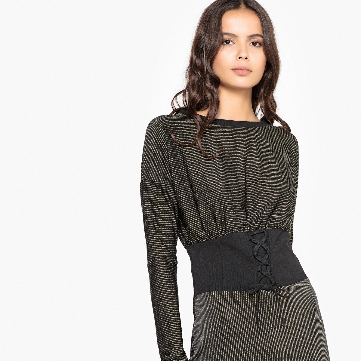 Платье облегающее короткое с длинными рукавами La Redoute Collections