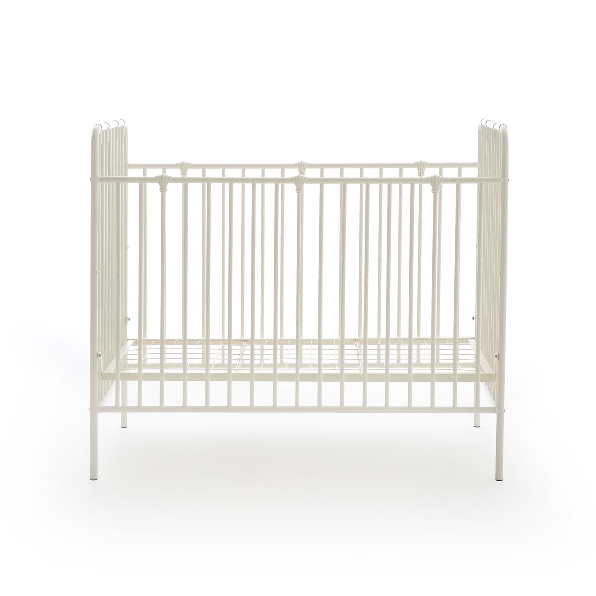 Кроватка LaRedoute Детская из металла Bertille 60 x 120 см белый