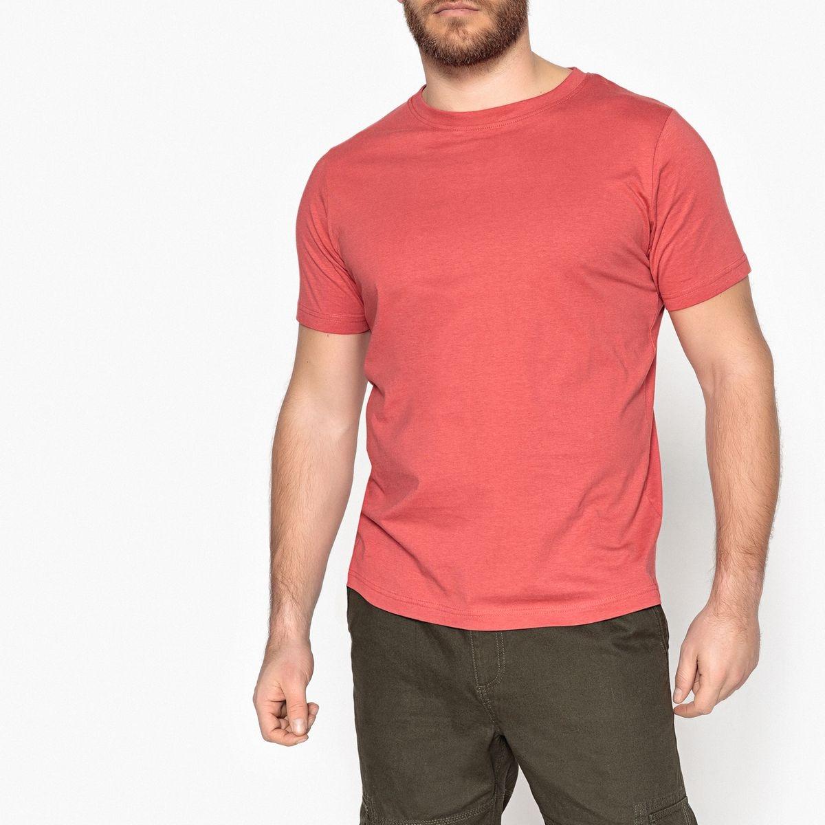 Tee shirt col rond uni, manches courtes