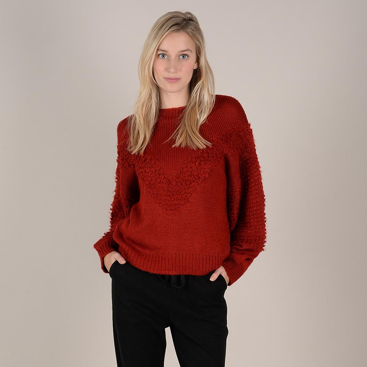 Пуловер La Redoute С круглым вырезом из плотного трикотажа M/L красный пуловер la redoute с круглым вырезом и длинными рукавами l красный