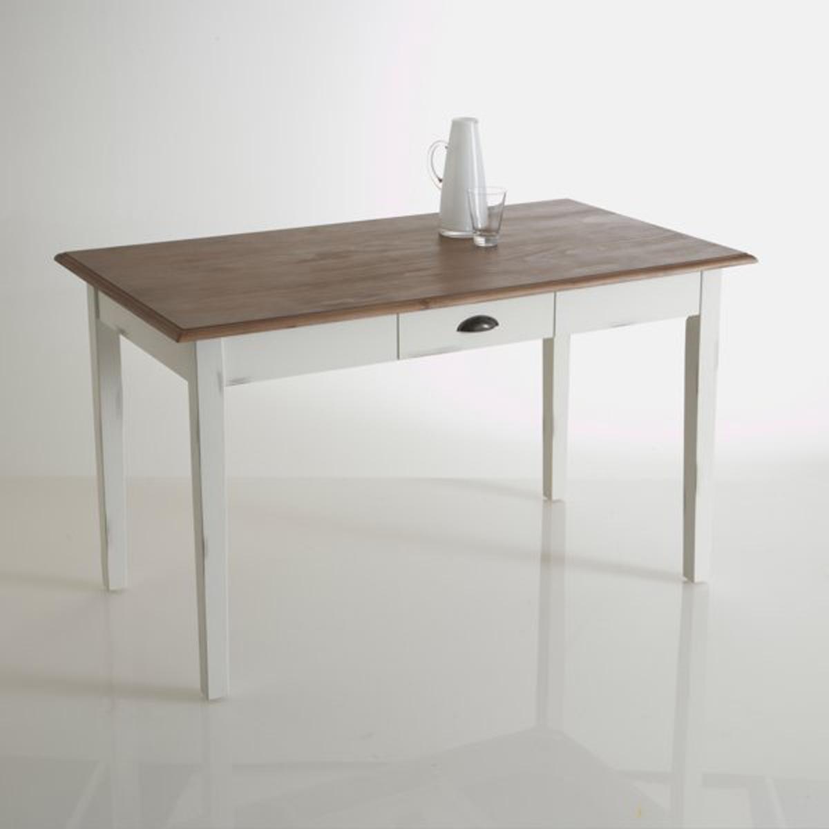 Стол La Redoute Для кухни из массива сосны на - персоны Roside 4 персоны белый стол письменный из массива сосны gaby