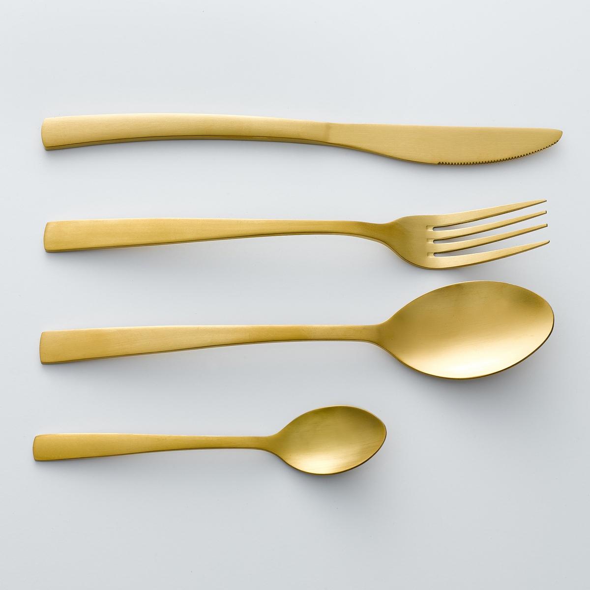4 ножа из нерж.стали золотистого цвета, AuberieХарактеристики 4 ножей Auberie:- Из нержавеющей стали с позолоченным покрытием.- Можно использовать в посудомоечной машине.Вилки, ложки для супа и кофе Auberie продаются на нашем сайте .<br><br>Цвет: золотистый<br>Размер: единый размер