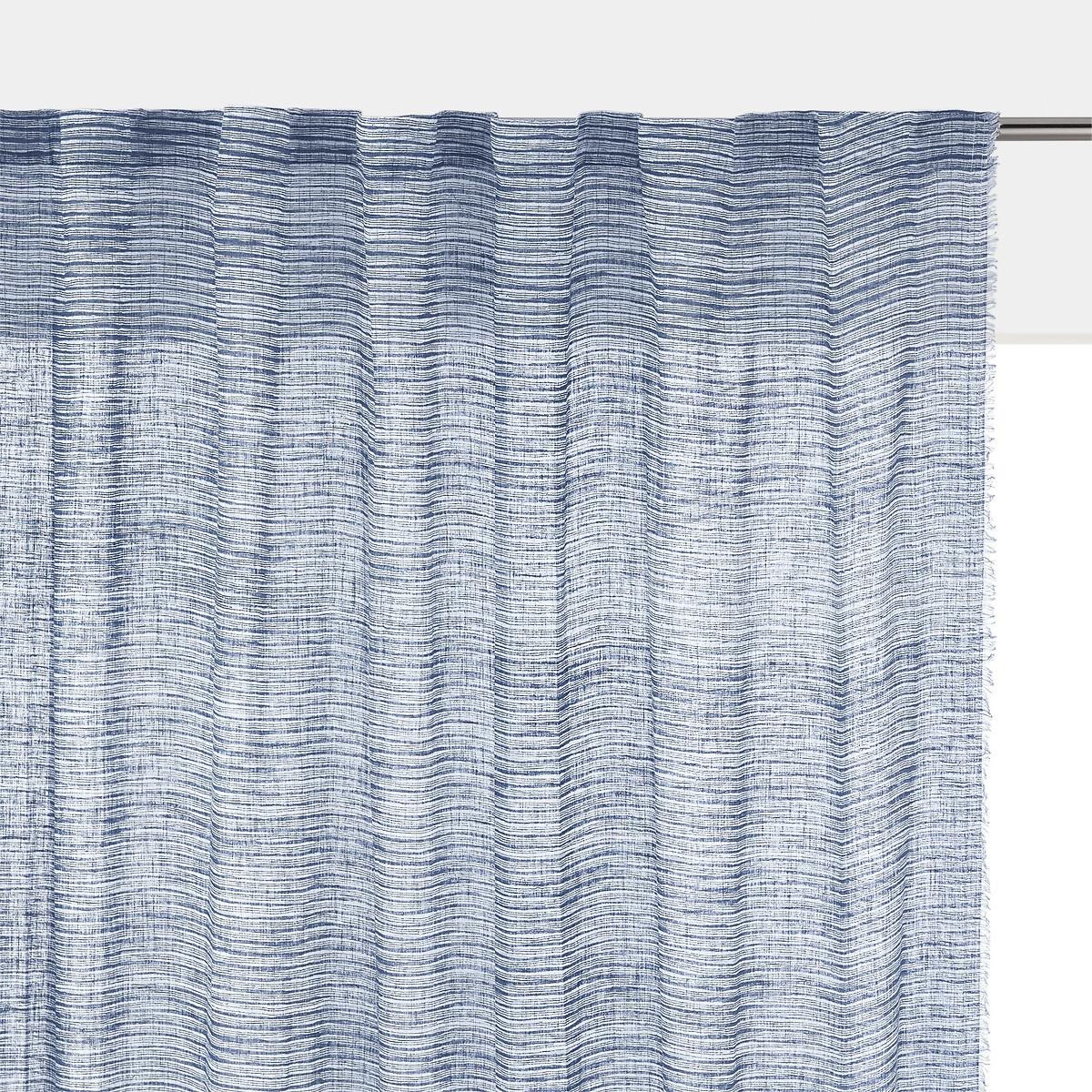 Занавеска LaRedoute С принтом Suto 250 x 140 см синий