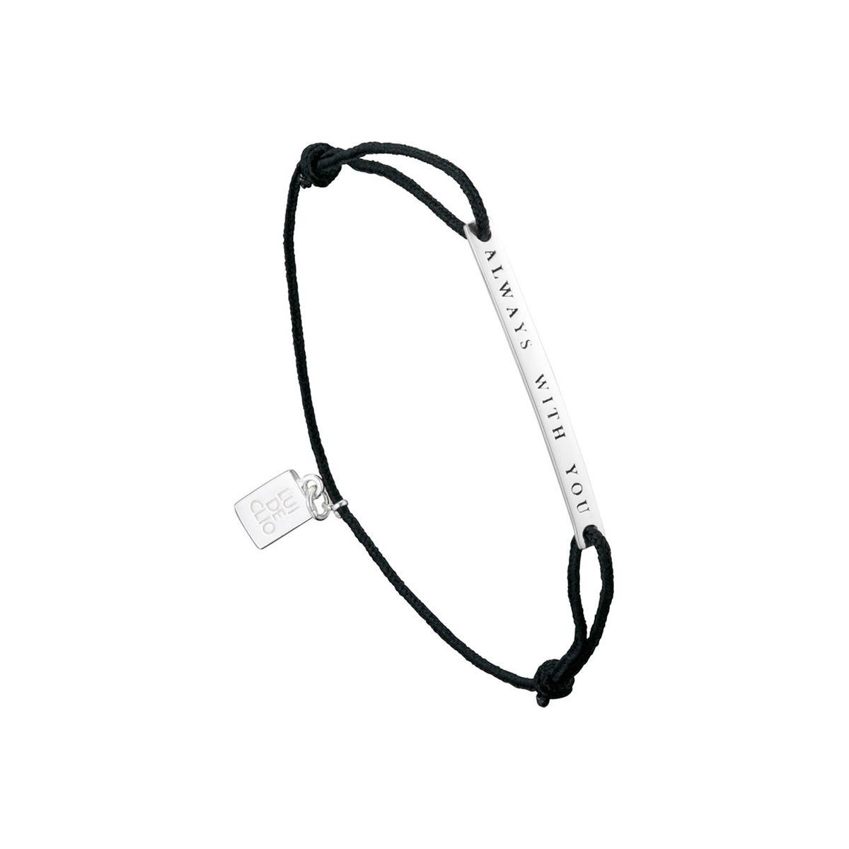 Bracelet cordon 'Always with you' Lui de Clio en argent 925, 1.8g
