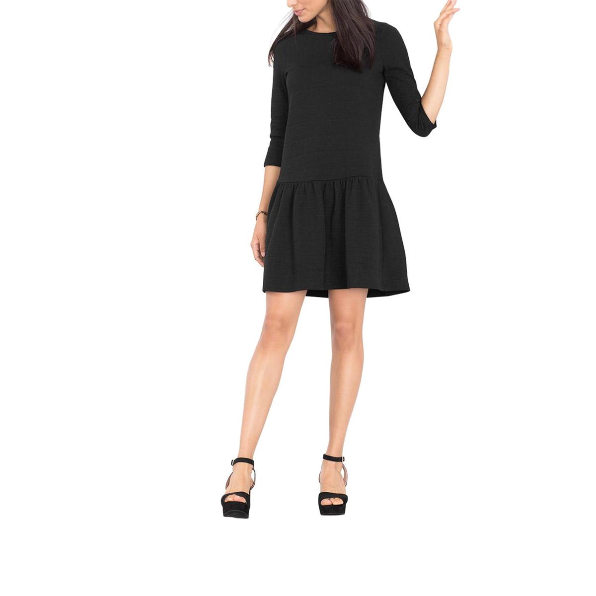 Платье расклешенное из рельефного трикотажаСостав и описаниеМатериал : 90% хлопка, 8% полистера, 2% эластанаМарка : EspritУходСледуйте инструкции по уходу на этикетке<br><br>Цвет: черный<br>Размер: M