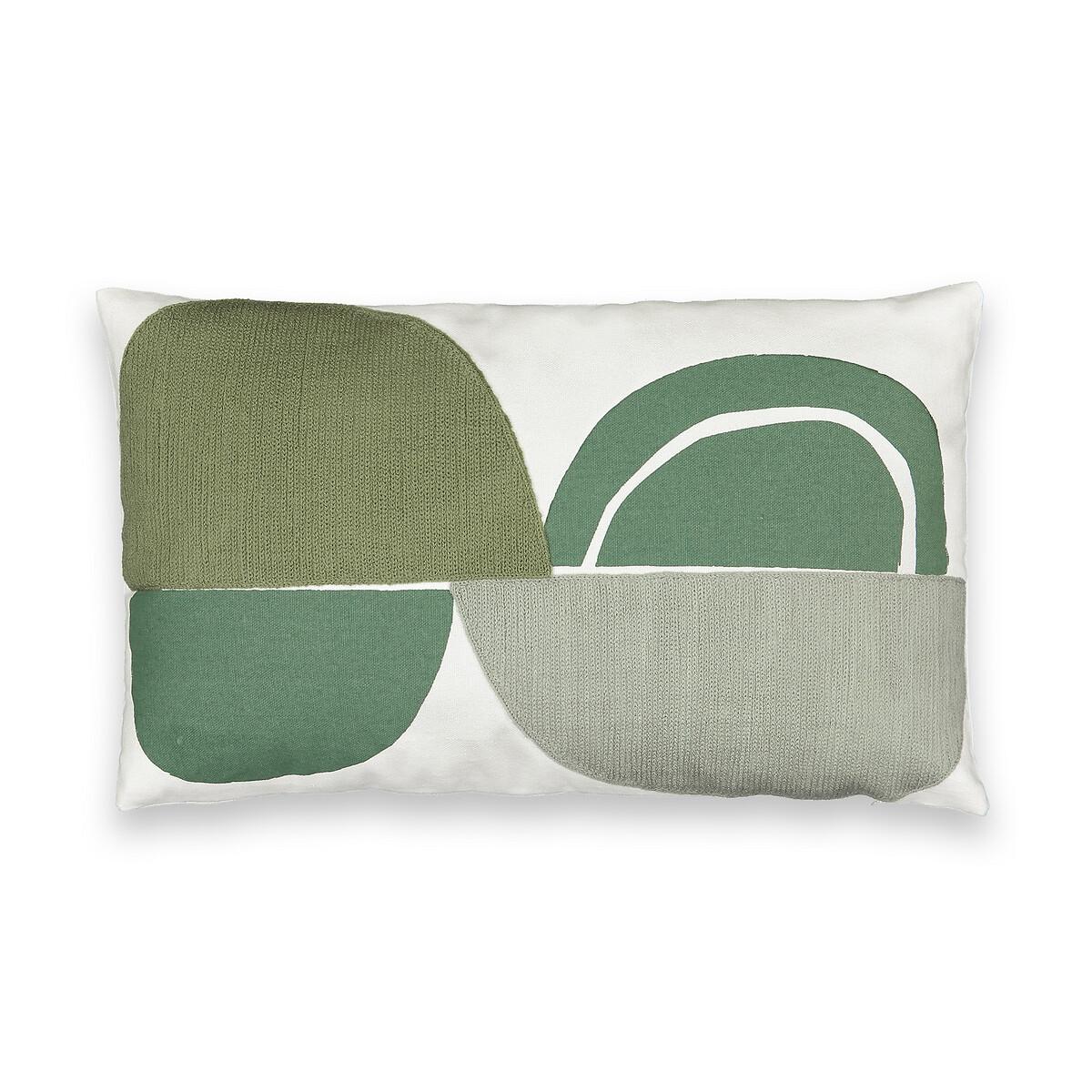 Чехол LaRedoute Для подушки Comoe 50 x 30 см зеленый