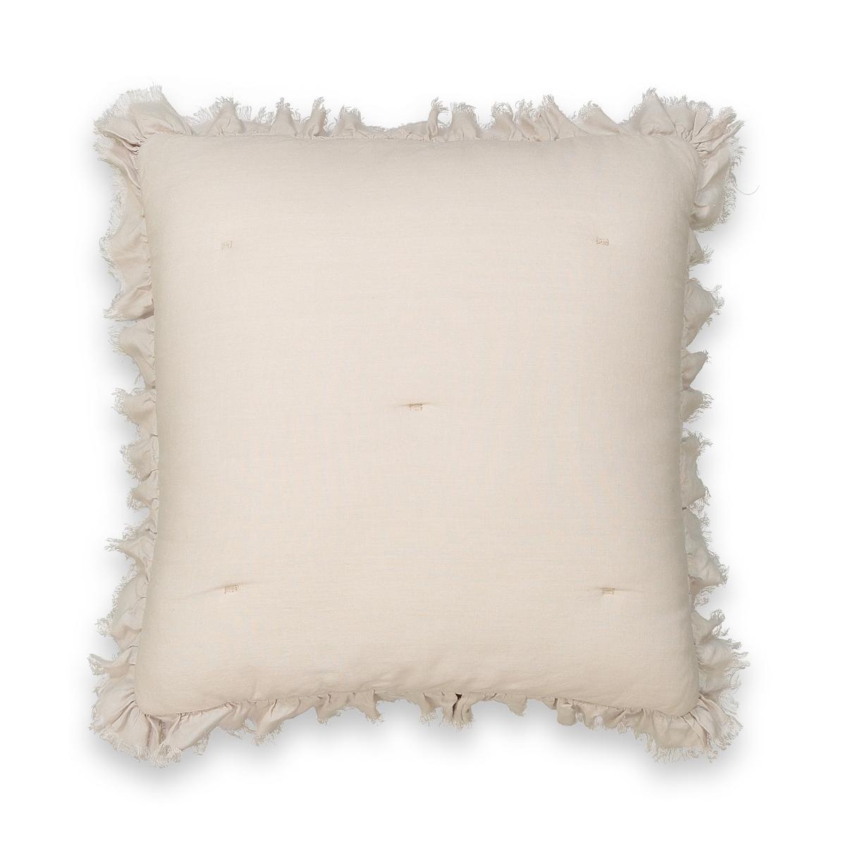Чехол на подушку-валик из льна и вискозы NILLOW