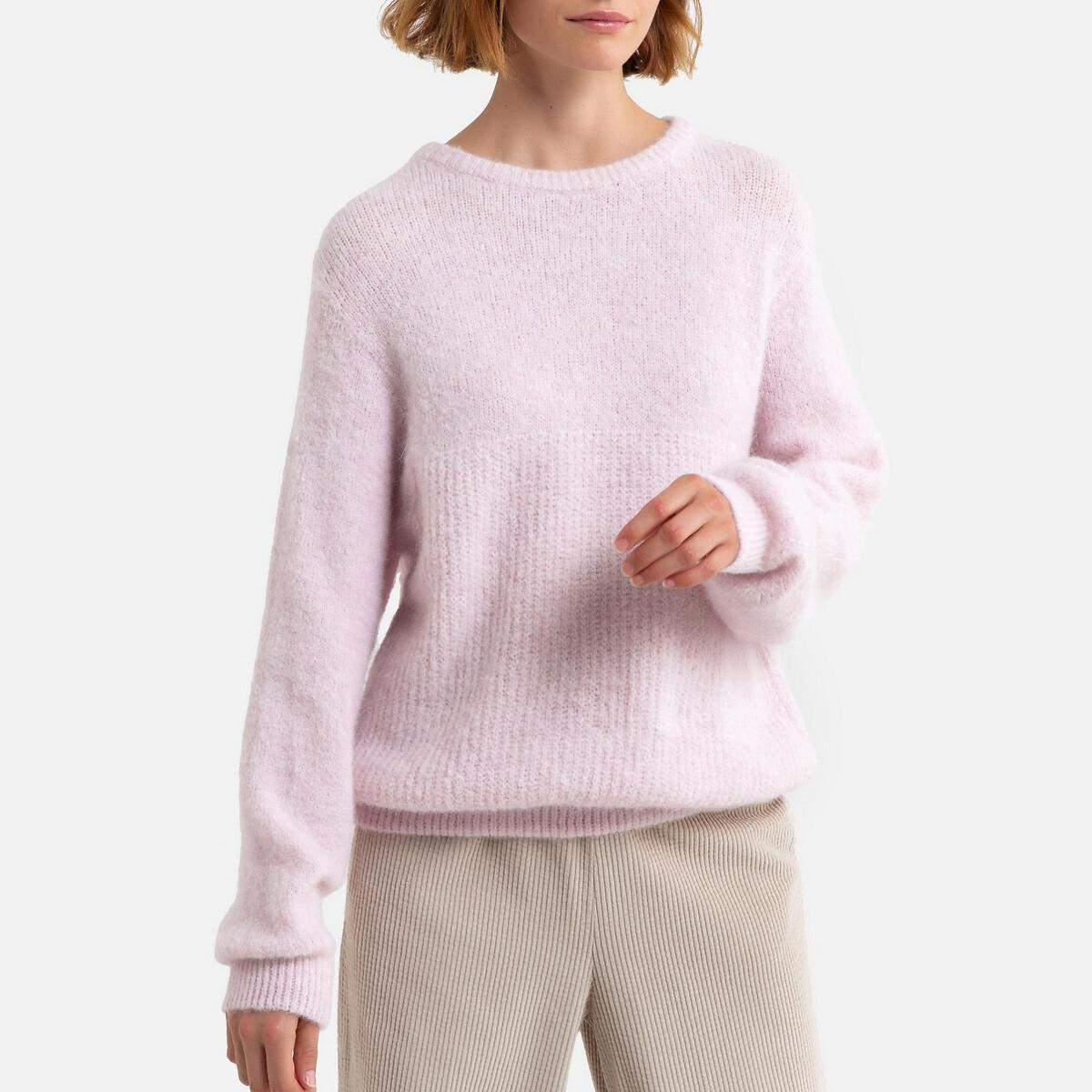 Пуловер LaRedoute С круглым вырезом из тонкого трикотажа EAST XS/S розовый