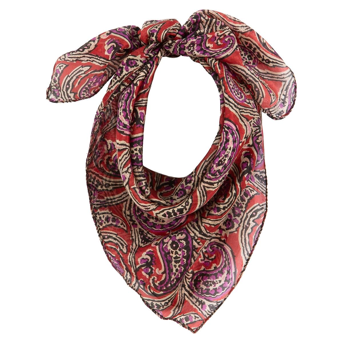 Fular de seda con estampado cachemir