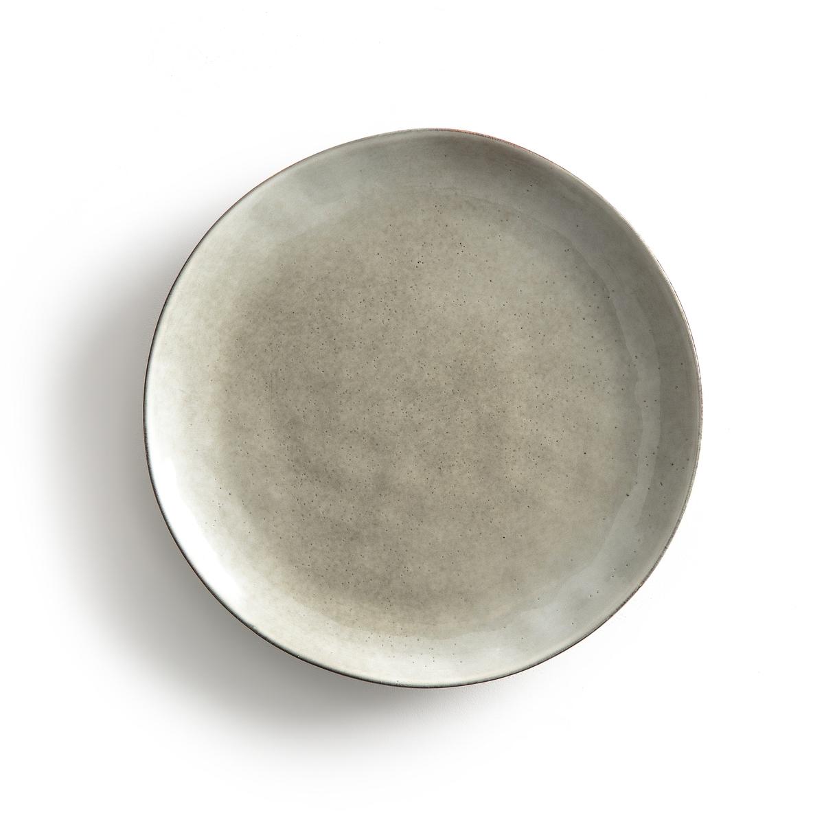 4 тарелки плоские из керамики HorciagОписание:4 тарелки плоские Horciag . Красивый малахитовый оттенок, создающий легкую атмосферу в стиле дзен .      Из керамики, покрытой глазурью. Подходят для использования в микроволновой печи и посудомоечной машине . Размеры : ?27,5 см . Найдите подходящие десертные тарелки на нашем сайте .<br><br>Цвет: серо-зеленый<br>Размер: единый размер