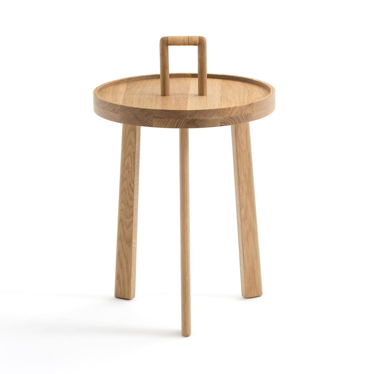 Столик La Redoute Для изголовья из массива дуба Achille единый размер каштановый столик la redoute журнальный из массива дуба bregnac единый размер каштановый