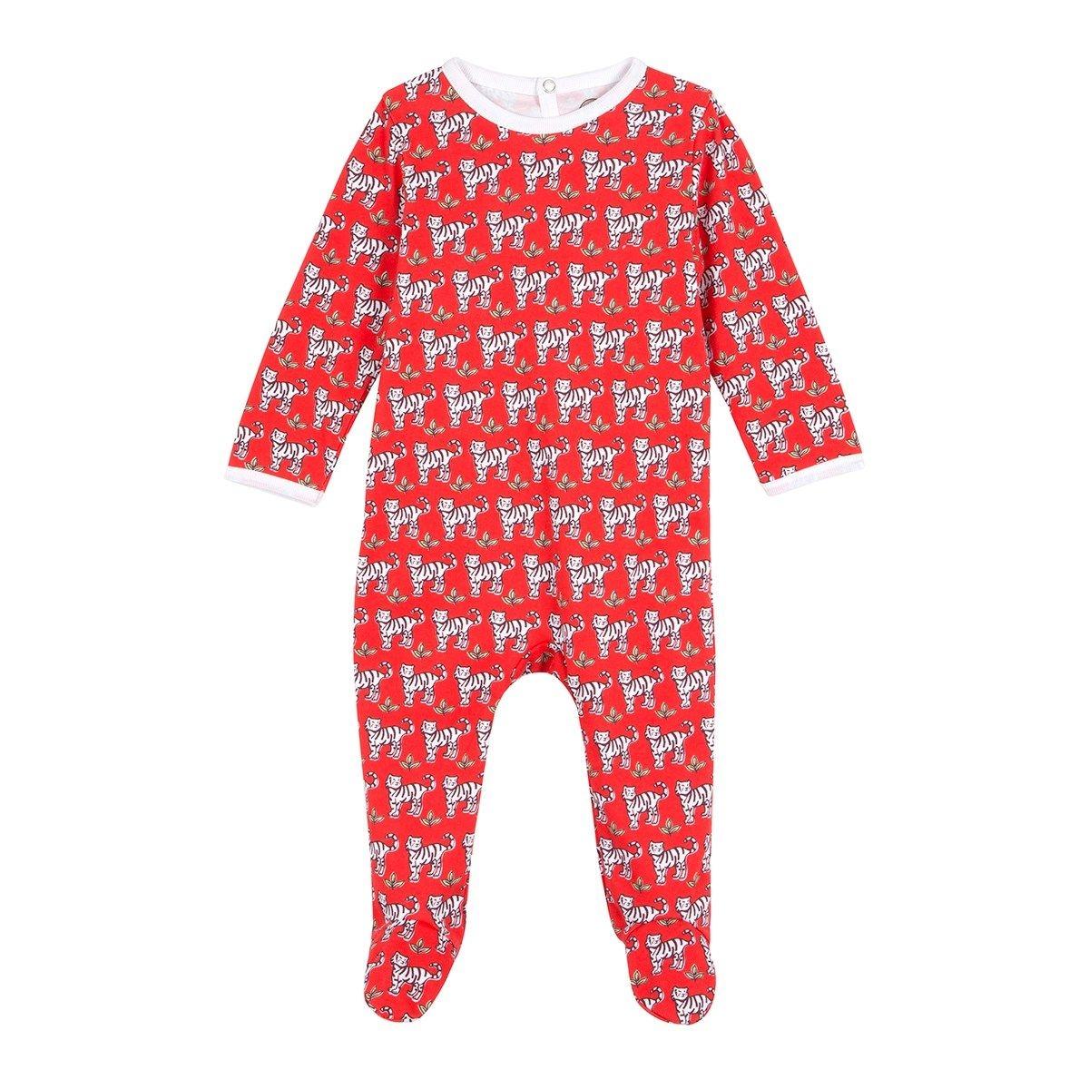 Pyjama bébé en coton bio - Imprimé Tigre Rouge - Edition Limitée