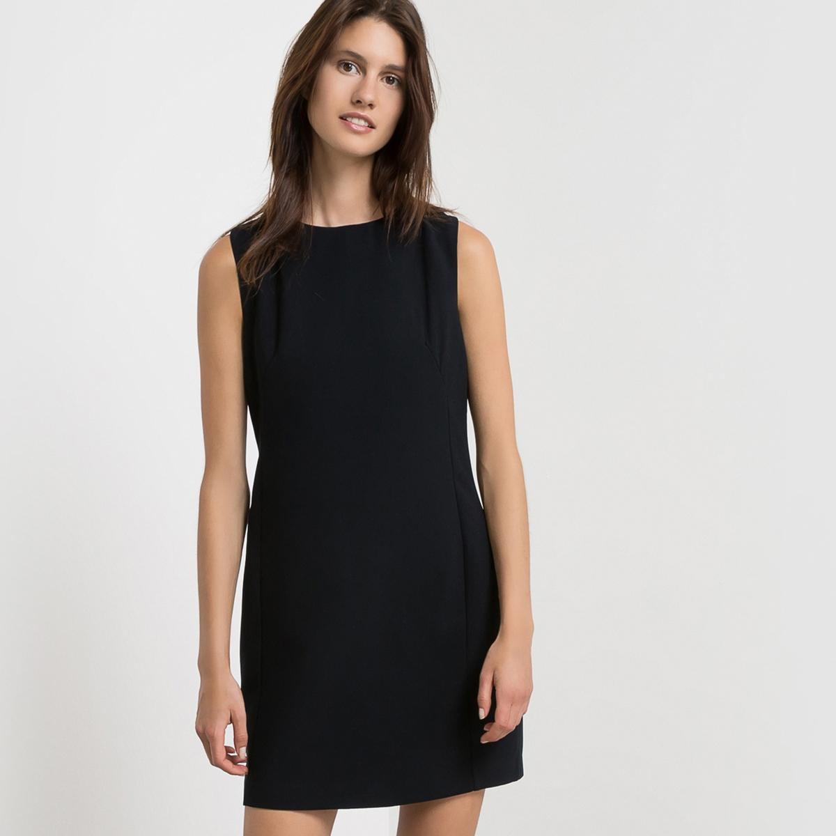 Платье без рукавов с оригинальным бантиком сзади SUNCOO