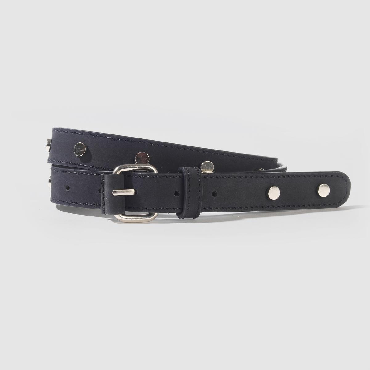 Ремень кожаныйКожаный ременьМарка: Carven X La Redoute.Материал: буйволовая кожа.Застежка: на металлическую пряжку.Ширина: .8,5 смРазмер: 75 см, 85 см, 95 см.<br><br>Цвет: белый,черный<br>Размер: 95 см.95 см