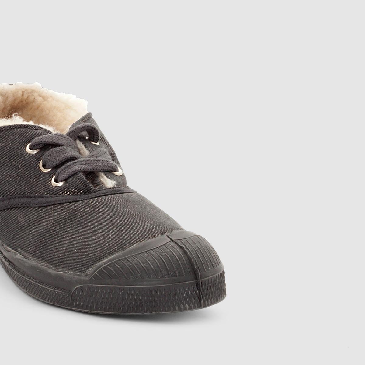 Кеды на мехуВерх : текстиль               Подкладка : синтетика         Стелька : хлопок         Подошва : каучук         Форма каблука : плоский         Мысок : закругленный мысок         Застежка : шнуровка<br><br>Цвет: серый