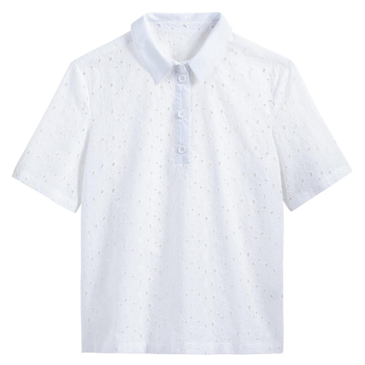 Camisa con bordado inglés