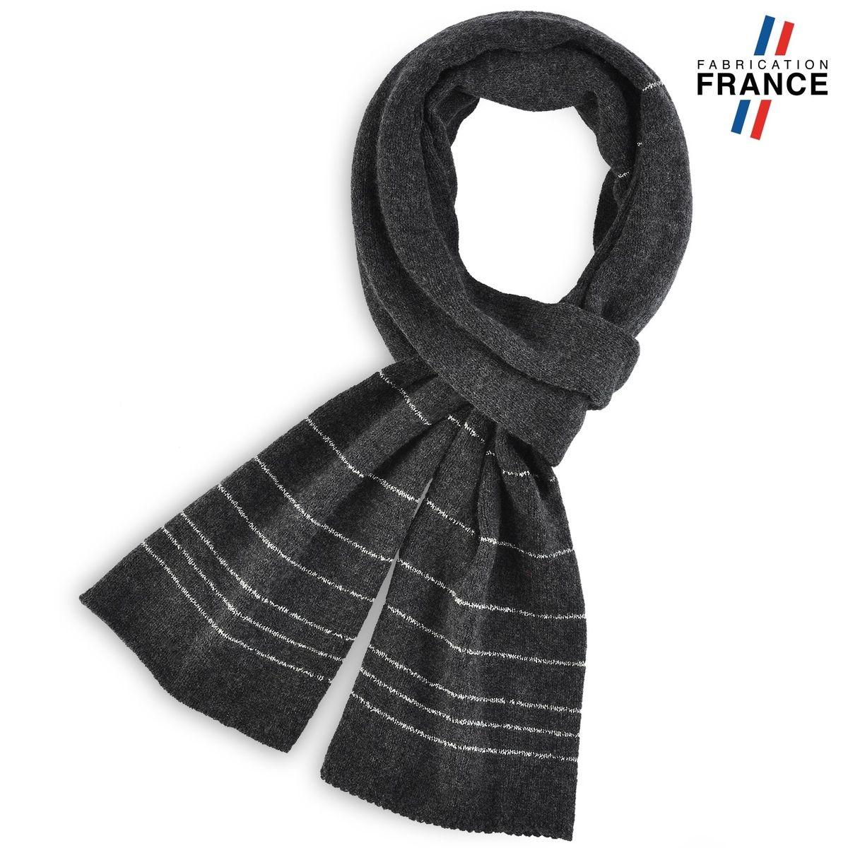 QUALICOQ Echarpe DORINE Noire - Fabriqué en France 06ffca44554
