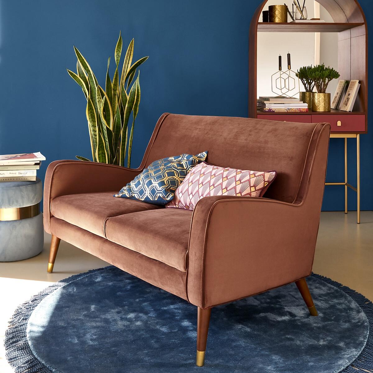 Canapé droit 2 places Velours Design Confort
