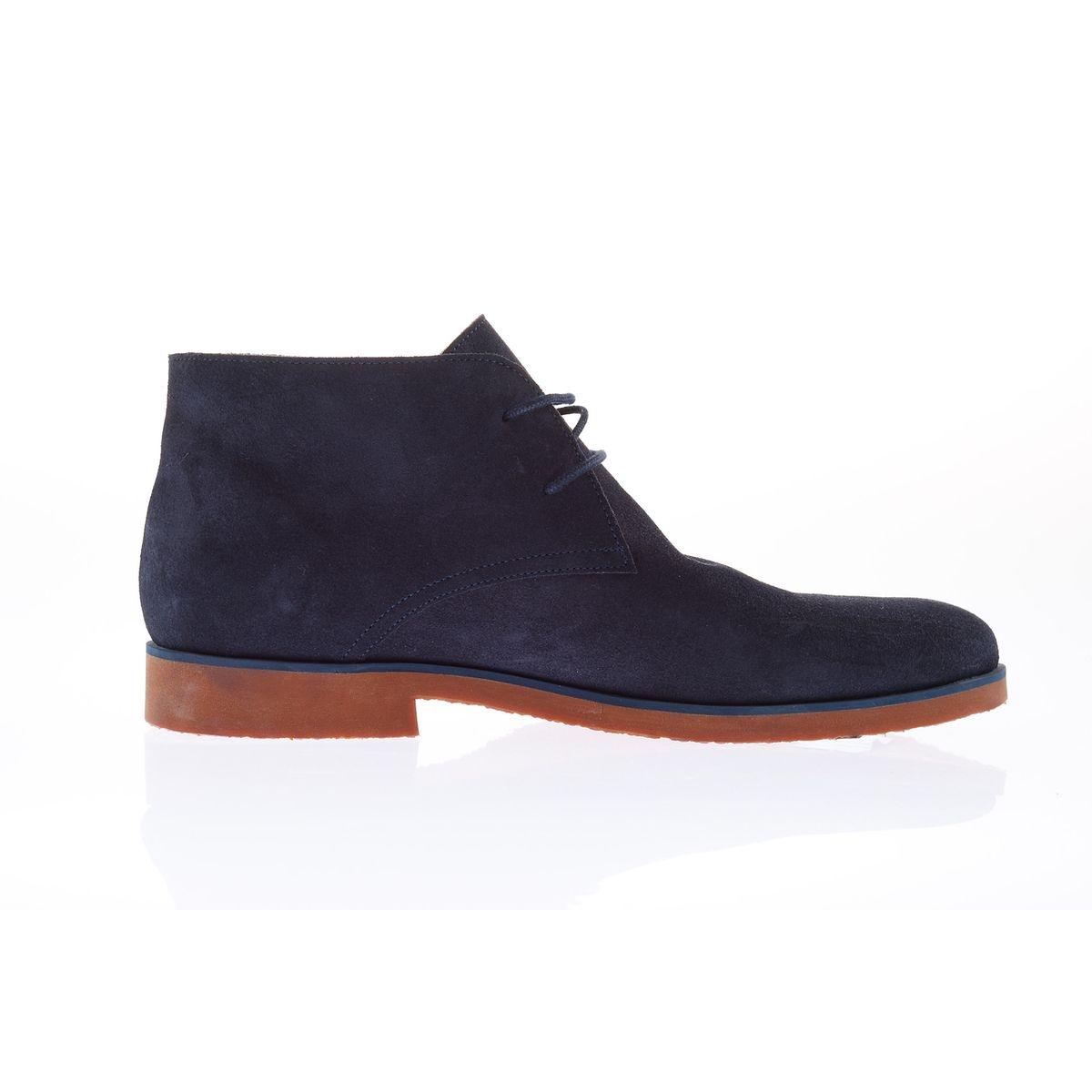 Desert boot cuir velours