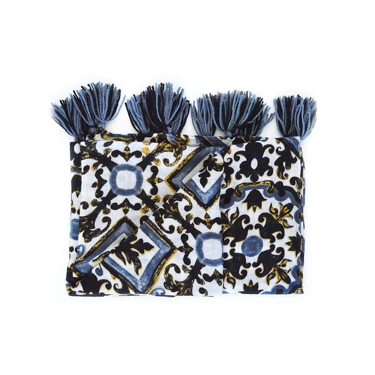 Foulard  en laine à imprimé carreaux