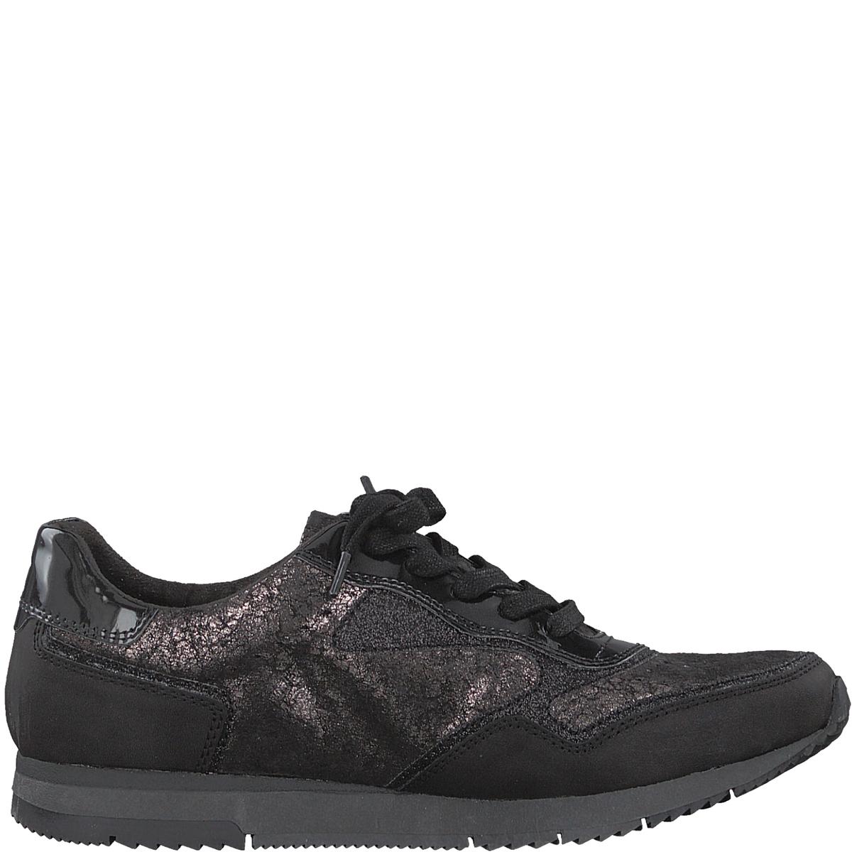 Кеды тканевые DakiДетали •  Спортивный стиль •  Плоский каблук •  Высота каблука : 2 см •  Застежка : ШнуровкаСостав и уход •  Верх  50% синтетического материала, 50% текстиля •  Подкладка 50% синтетического материала, 50% текстиля<br><br>Цвет: черный<br>Размер: 40