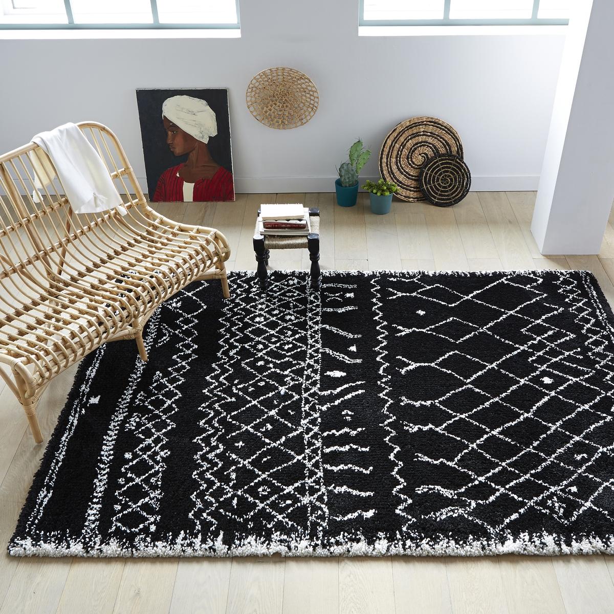 Ковер La Redoute В берберском стиле 3 размера Afaw 160 x 230 см черный ковер la redoute в берберском стиле kaylon 120 x 170 см каштановый