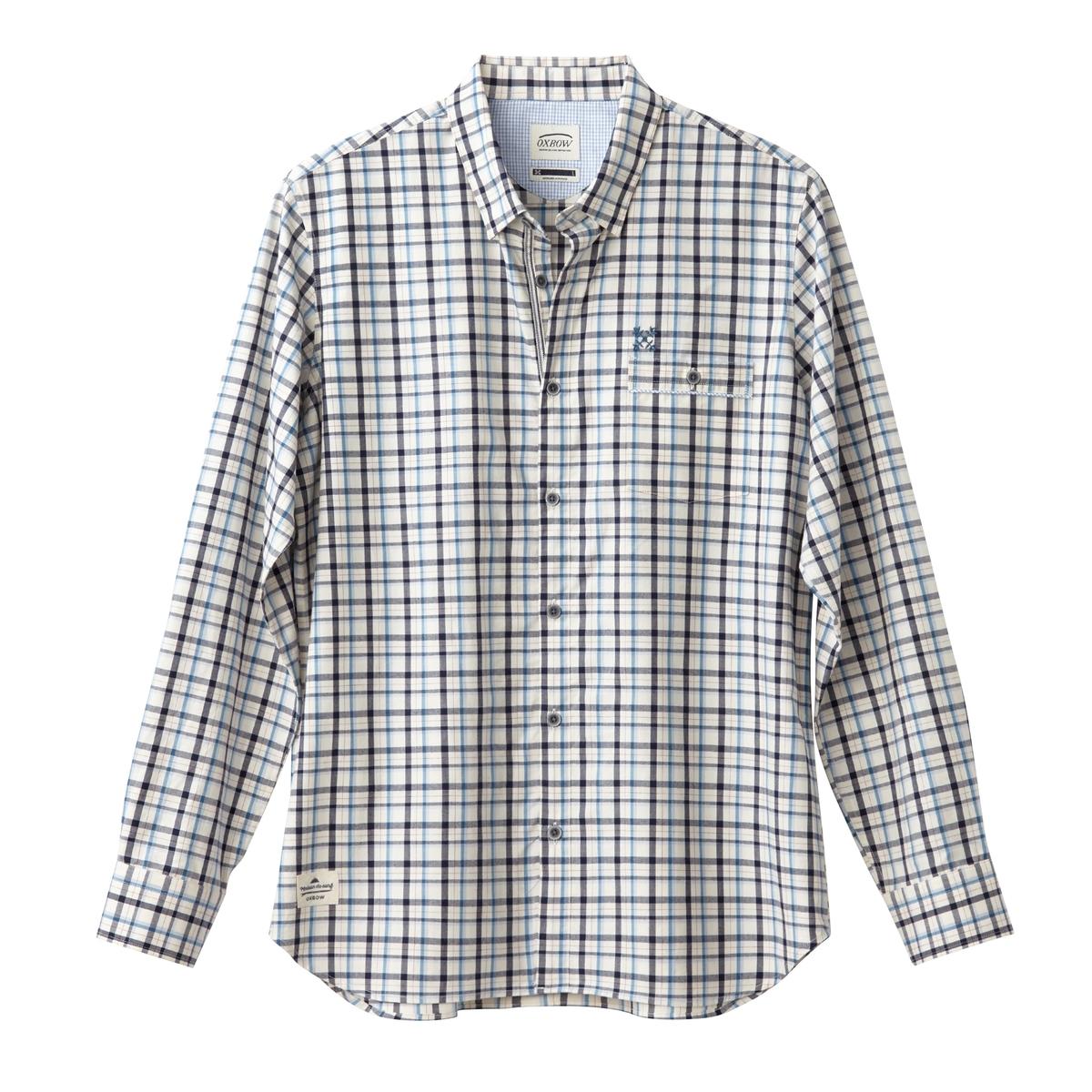 Рубашка в клетку с длинными рукавами