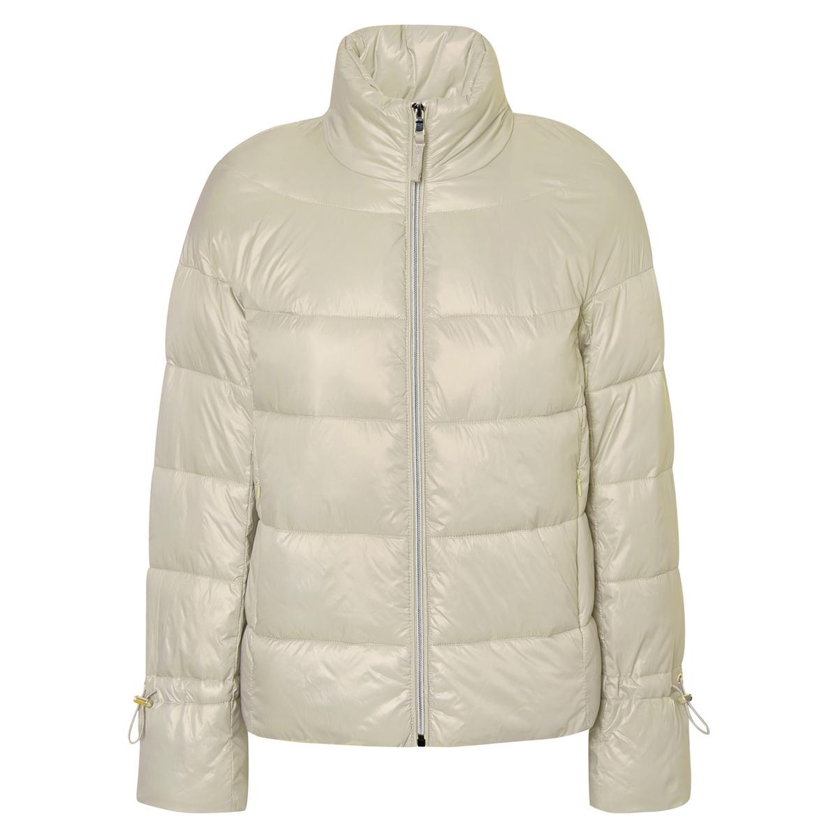 Куртка стеганаяОписание:Детали •  Длина  : укороченная   •  Воротник-стойка •  Застежка на молниюСостав и уход •  100% полиамид •  Следуйте рекомендациям по уходу, указанным на этикетке изделия<br><br>Цвет: бежевый экрю<br>Размер: M.S.XL