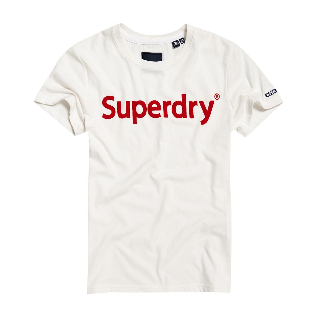 Camiseta de algodón de manga corta y logotipo