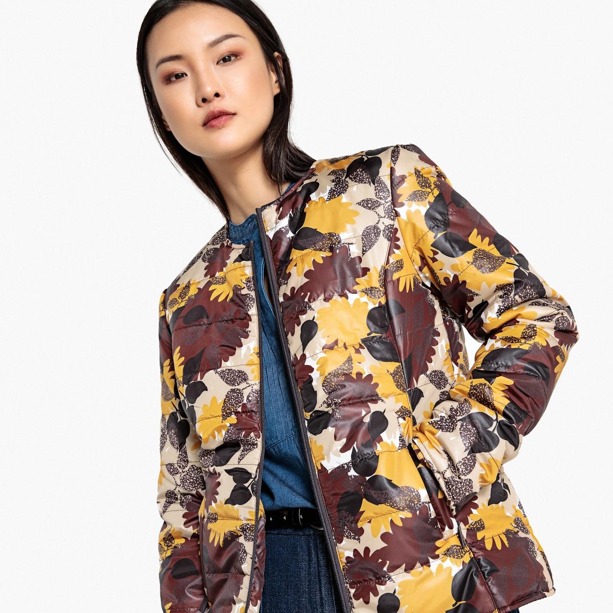 цена Куртка La Redoute Легкая с принтом 40 (FR) - 46 (RUS) каштановый онлайн в 2017 году