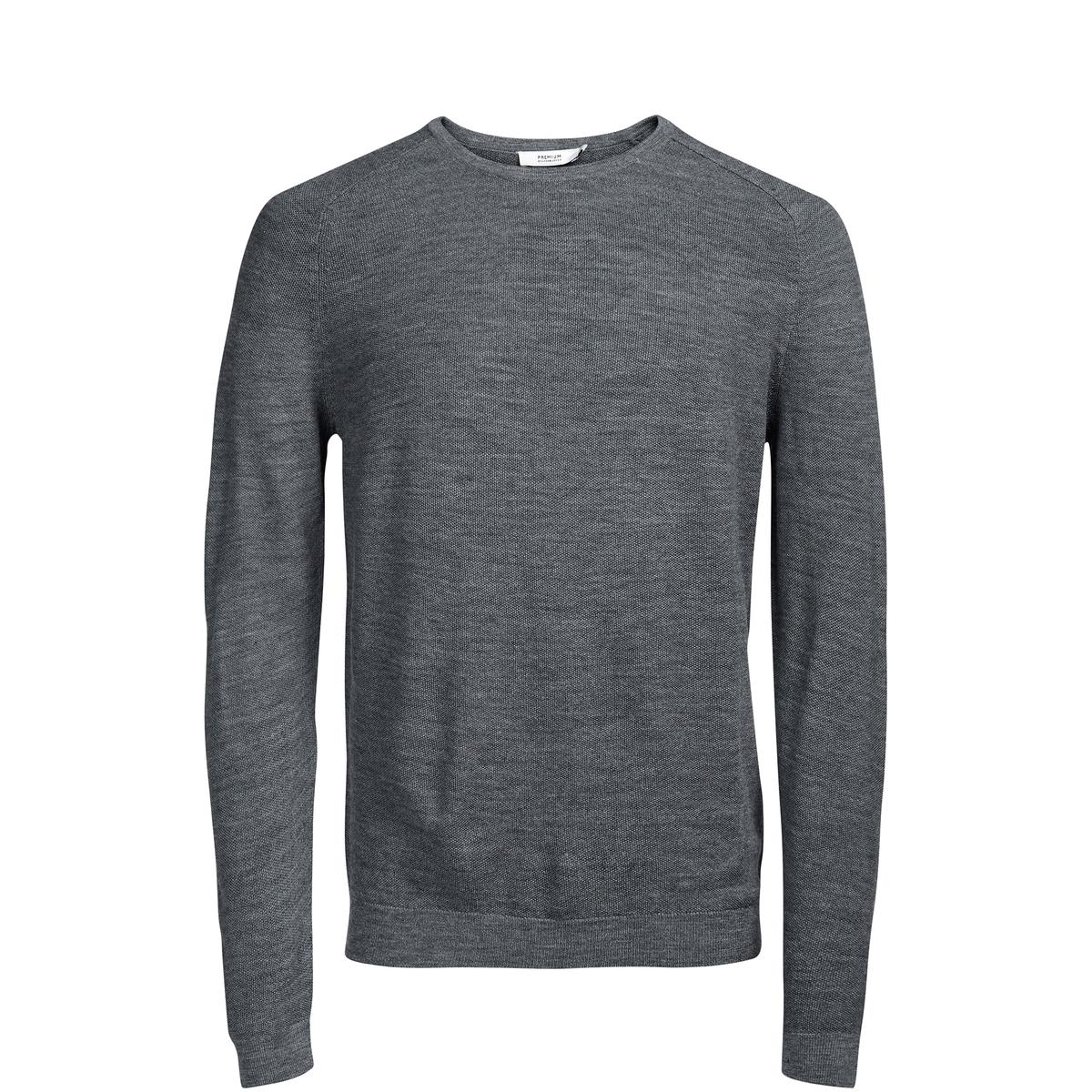 Sweter z okrągłym dekoltem 100% wełny merynosów