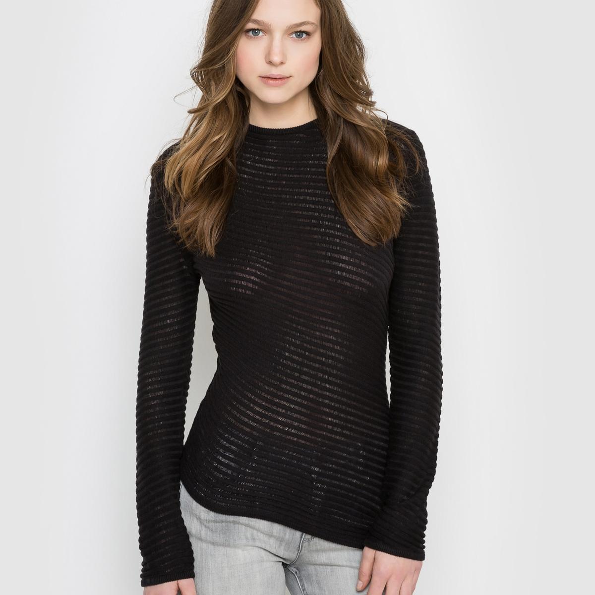 Пуловер асимметричный с длинными рукавами, круглым вырезом CHEAP MONDAY BETA KNITСостав и описание :Материал : 100% хлопкаМарка : CHEAP MONDAY.<br><br>Цвет: черный